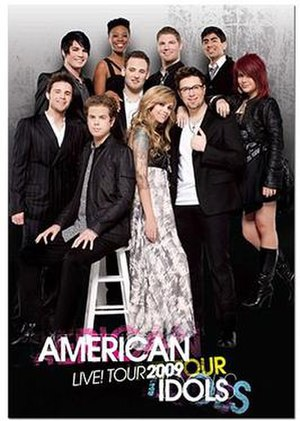 American Idols LIVE! Tour 2009 - Image: American Idols LIVE Tour Official Poster 2009