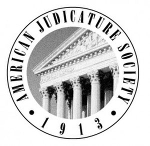 American Judicature Society - Seal of the American Judicature Society.