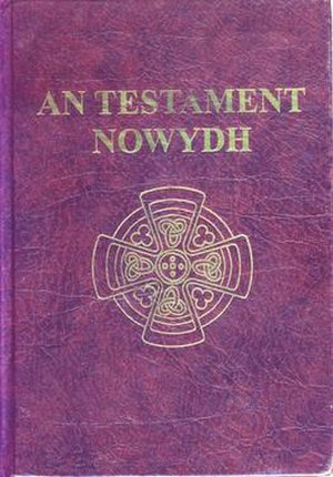 Bible translations into Cornish - The front cover of An Testament Nowydh, 2004