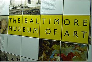 Photograph of Baltimore Museum of Art sign