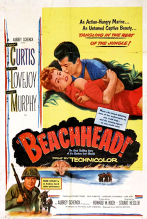Beachhead (film) - 1954 theatrical poster