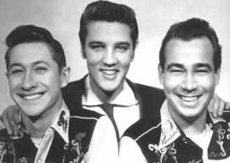 The Blue Moon Boys - Scotty Moore, Elvis Presley, Bill Black (from left to right)