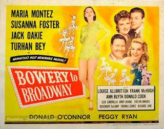 <i>Bowery to Broadway</i> 1944 film by Charles Lamont