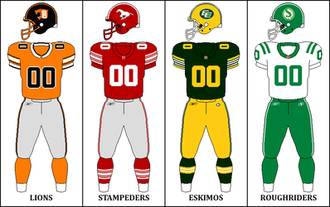 2010 CFL season - West Division Retro Jerseys