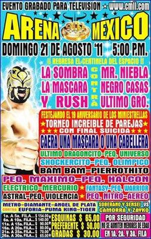 CMLL Mini-Estrellas tournaments - Official poster for the show, advertising the Torneo de Parejas Increibles