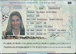 British passport (Cayman Islands) - Caymanian passport information page