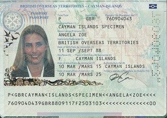 British passport (Cayman Islands) - Caymanian passport information page