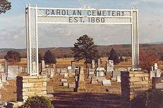 Carolan, Arkansas - Carolan Cemetery, Established 1860.
