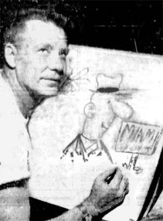 Clyde Lamb - Clyde Lamb in Miami in 1956.