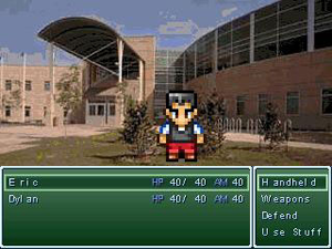 Super Columbine Massacre RPG! - Image: Columbine battle screen