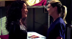 Fear (Of the Unknown) (Grey's Anatomy) - Cristina (Sandra Oh) and Meredith (Ellen Pompeo) dance it out one last time.