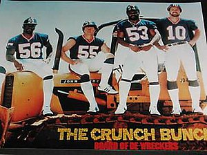 Crunch Bunch - An early 1980s poster. From left: Taylor, Kelly, Carson, and Van Pelt.
