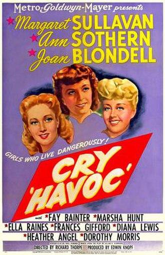 Cry 'Havoc' (film) - Cinema poster