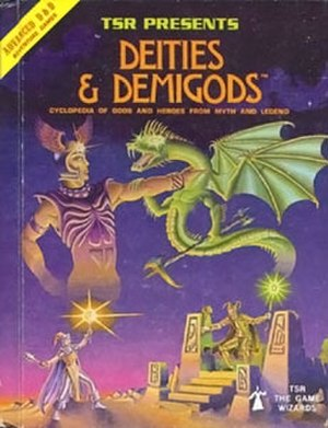 Deities & Demigods - Image: Deities & Demigods (front cover, first edition)