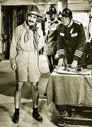 Duck Soup (1933 film) - Groucho in one of the many costumes he wore in the war sequence of Duck Soup