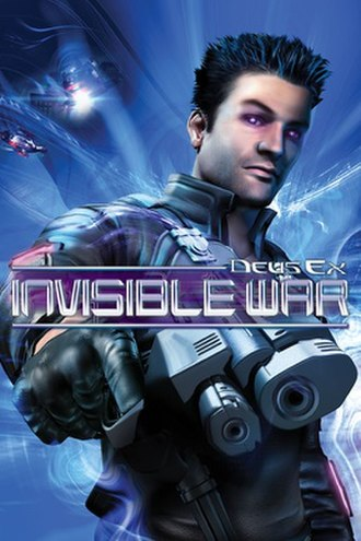 Deus Ex: Invisible War - Cover art for the North American Windows version, showing the default male version of Alex D.