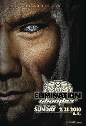 Elimination Chamber (2010) - Promotional poster featuring Batista