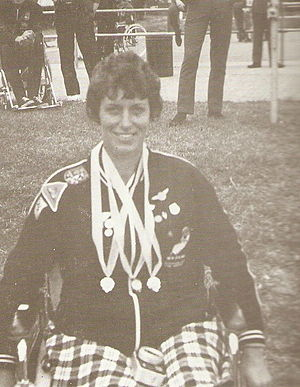 Eve Rimmer - Two golds and a bronze at the home of para sport. The medal presentation at the Stoke Mandeville international para games in 1972.