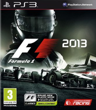 F1 2013 (video game) - F1 2013 Playstation 3 cover.