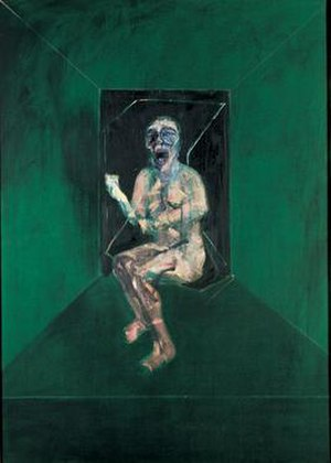 Three Studies for Figures at the Base of a Crucifixion - Francis Bacon. Study for the Nurse in the Battleship Potemkin, 1957. A later study of the screaming mouth based on the Eisenstein still.