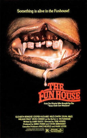 The Funhouse - Original U.S. theatrical poster, a parody of The Rocky Horror Picture Show poster