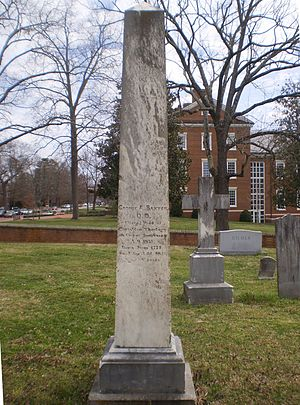 George A. Baxter - George A. Baxter's Cemetery Monument on the campus of Hampden-Sydney College