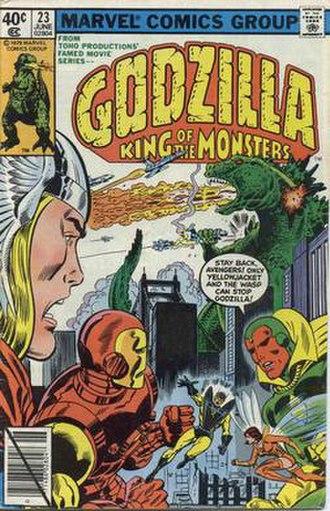 Godzilla (comics) - Image: Godzilla Comics 23