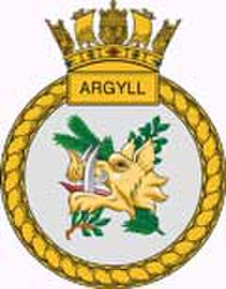 HMS Argyll (F231) - Ship's badge