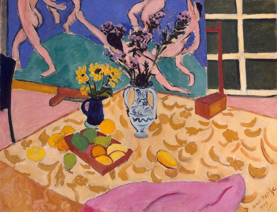 Henri Matisse, 1909, Still Life with Dance, oil on canvas, 89.5 x 117.5 cm, Hermitage Museum, Saint Petersburg