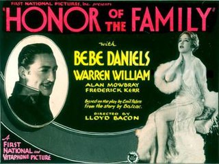 <i>Honor of the Family</i> 1931 film