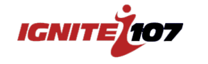 CKCL-FM - Logo as Ignite 107, used from 2008-2013.