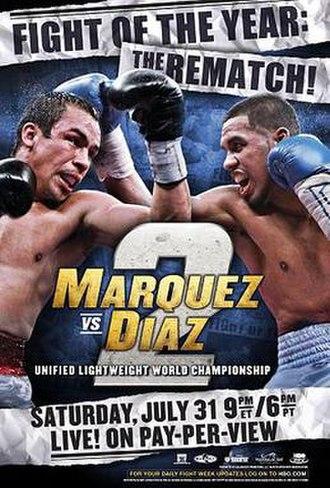 Juan Manuel Márquez vs. Juan Díaz II - Image: Juan Manuel Marquez vs. Juan Diaz 2 (poster)