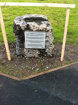 Kennedy Park (Cork, Ireland) - Kennedy Park improvements plaque