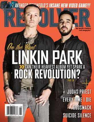 Revolver (magazine) - Magazine cover featuring Chester Bennington and Mike Shinoda of Linkin Park