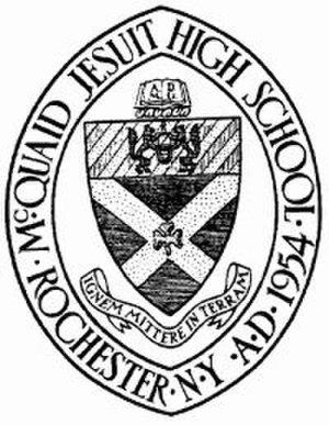 McQuaid Jesuit High School - Image: Mc Quaid Seal
