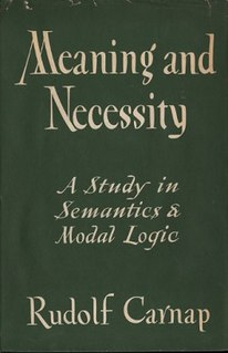 <i>Meaning and Necessity</i> book by Rudolf Carnap