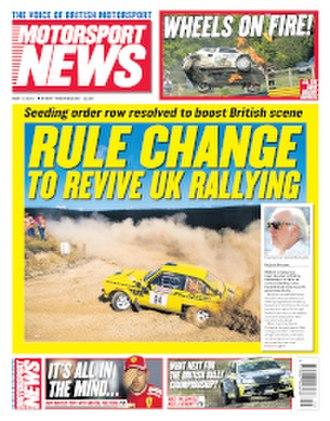 Motorsport News - Image: Motorsport News May 9 2018 cover