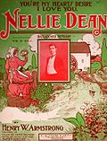Cover of old sheet music with the title 'Nellie Dean'