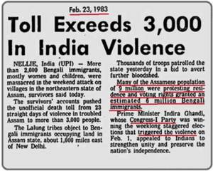 Nellie massacre - Press clips from 1983