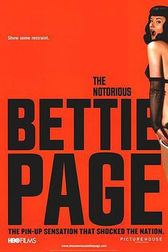 The Notorious Bettie Page - Original release poster