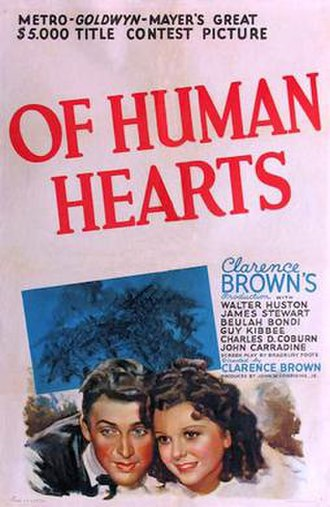 Of Human Hearts - 1938 theatrical poster