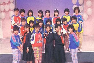 Onyanko Club - Members of Onyanko Club with the main cast of Sukeban Deka II