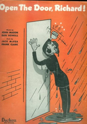 Open the Door, Richard - Image: Open the Door Richard sheet music cover