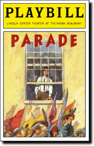 Parade (musical) - Broadway Playbill cover