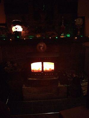 Drumconrath - stove inside Muldoon's Bar