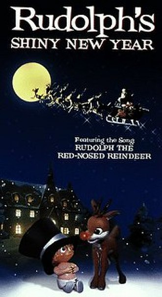 Rudolph's Shiny New Year - Cover of the 1999 VHS release