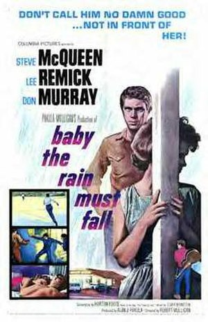 Baby the Rain Must Fall - Theatrical release poster