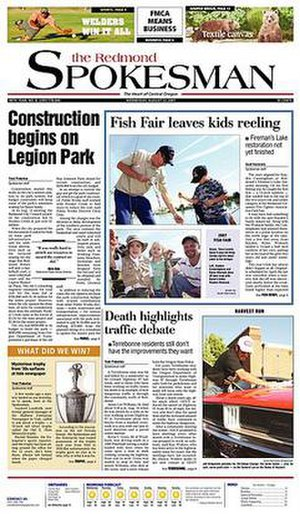 The Redmond Spokesman - Image: Redmond Spokesman front page, 22 August 2007