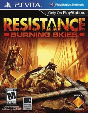 Resistance: Burning Skies - Image: Resistance Burning Skies boxart