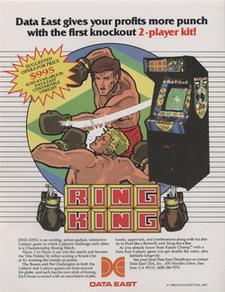 North American Ring King arcade flyer.